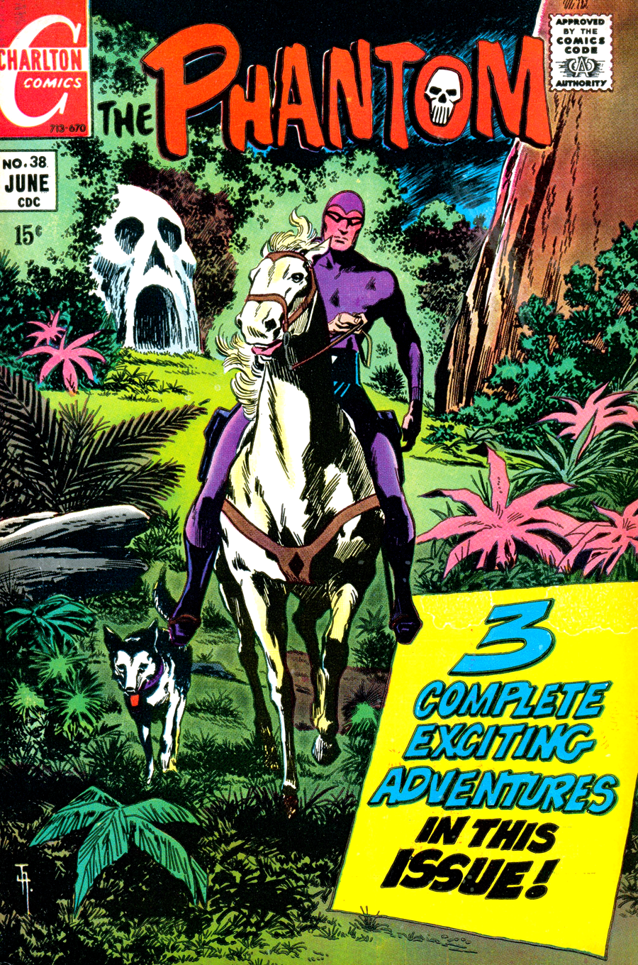 The Phantom #38 cover by Jim Aparo