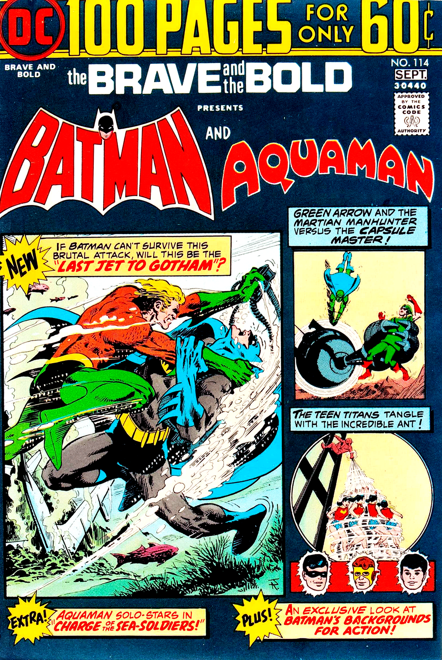 Brave and the Bold #114 cover by Jim Aparo