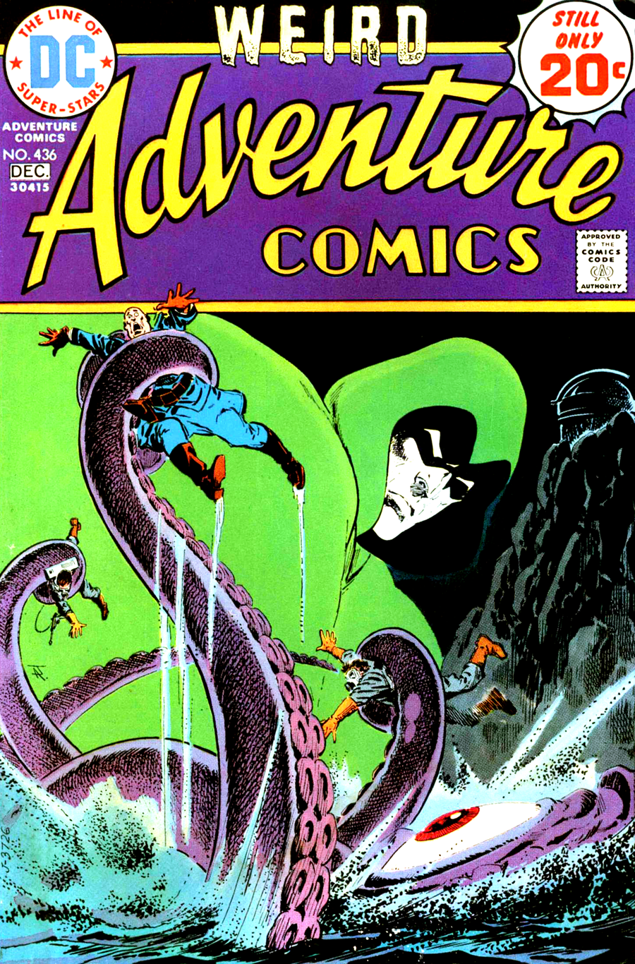 Adventure Comics #436 cover by Jim Aparo