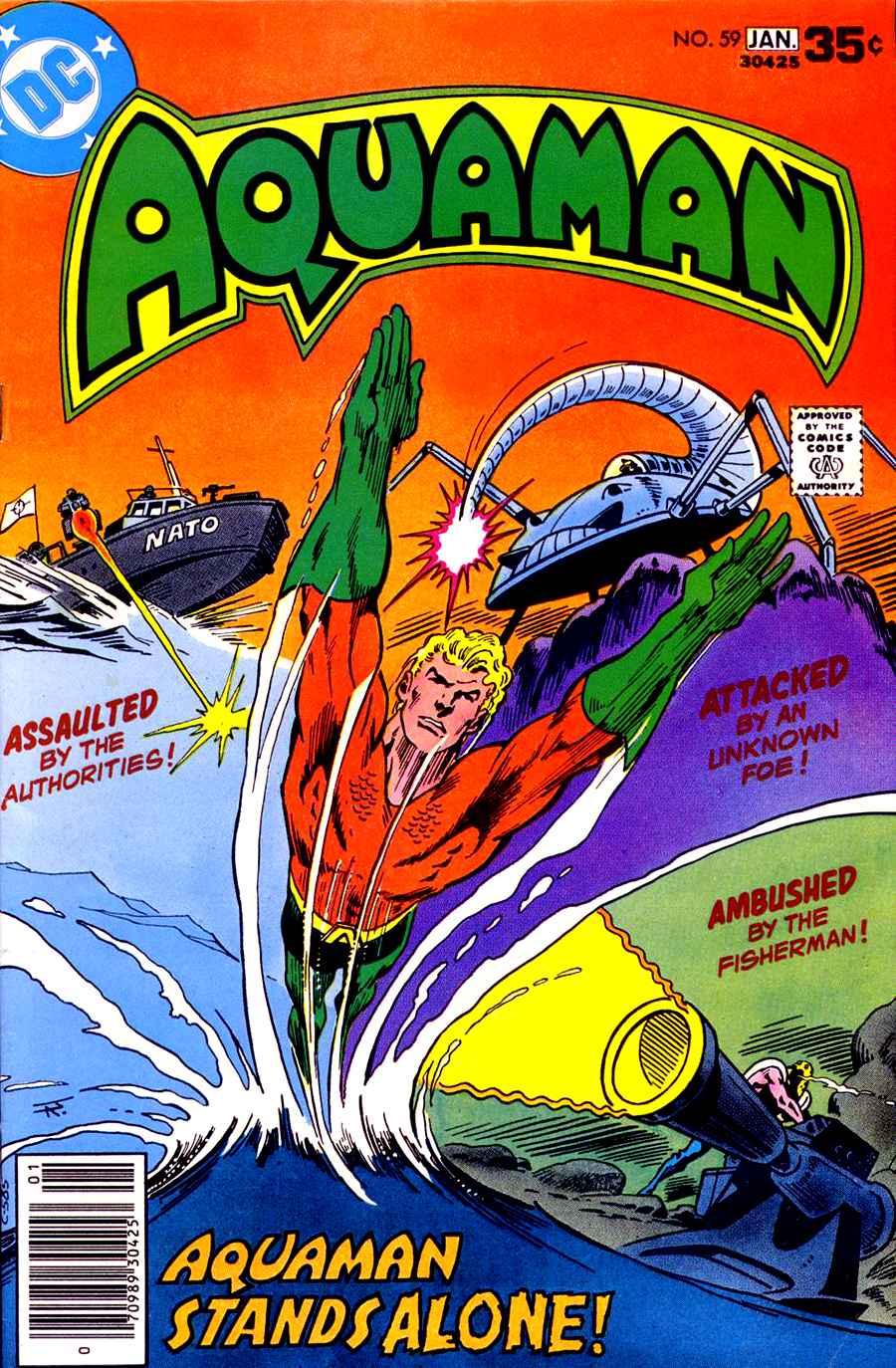 Aquaman #59 cover by Jim Aparo