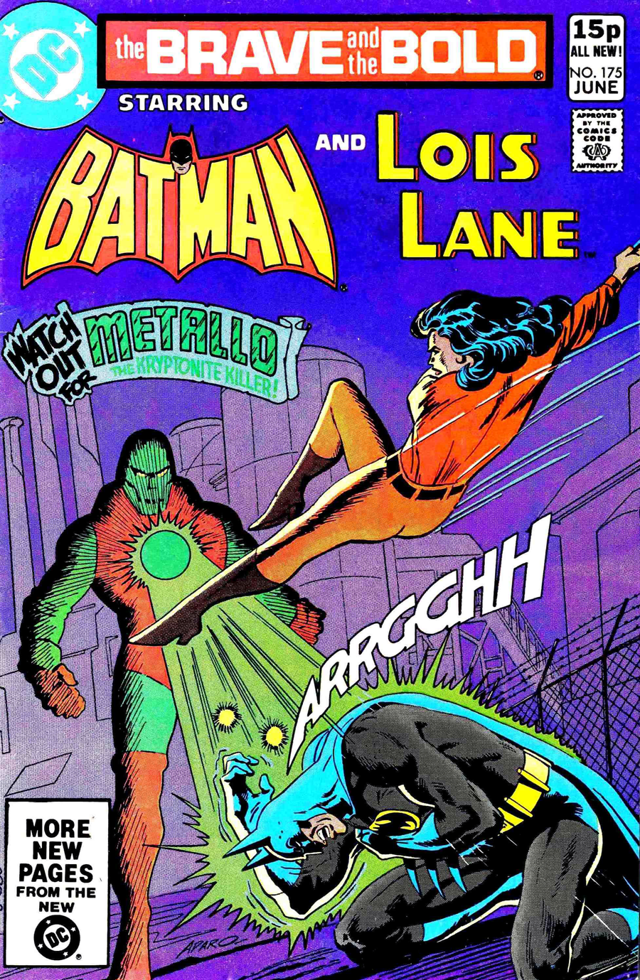 Brave and the Bold #175 cover by Jim Aparo