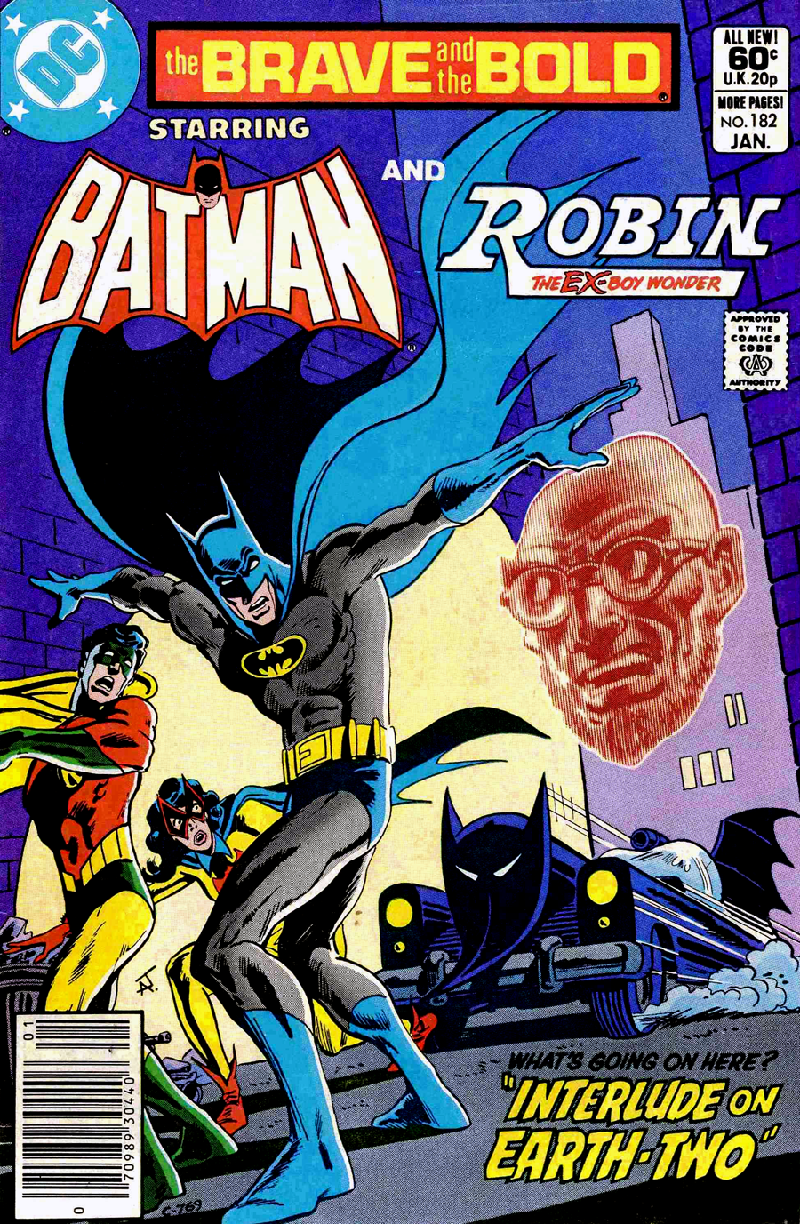 Brave and the Bold #182 cover by Jim Aparo