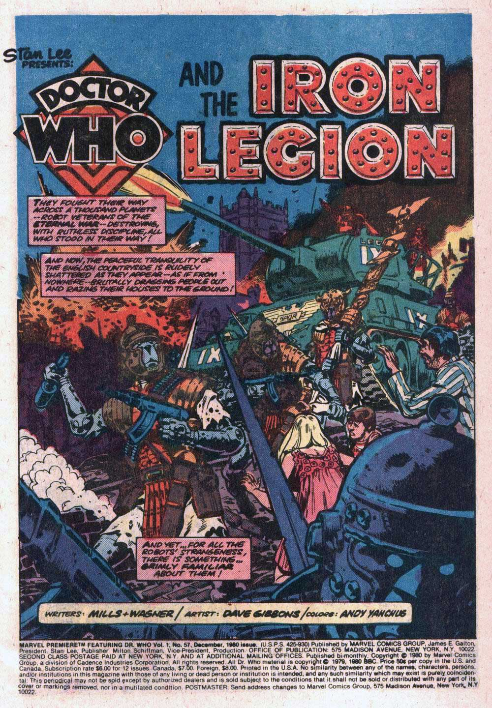 Marvel Premiere #57 with Doctor Who by Dave Gibbons