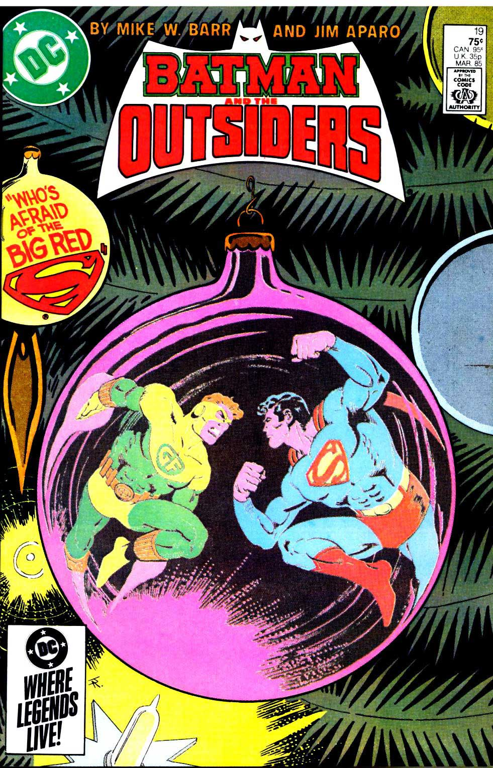 BATMAN AND THE OUTSIDERS #19 by Mike W. Barr and Jim Aparo
