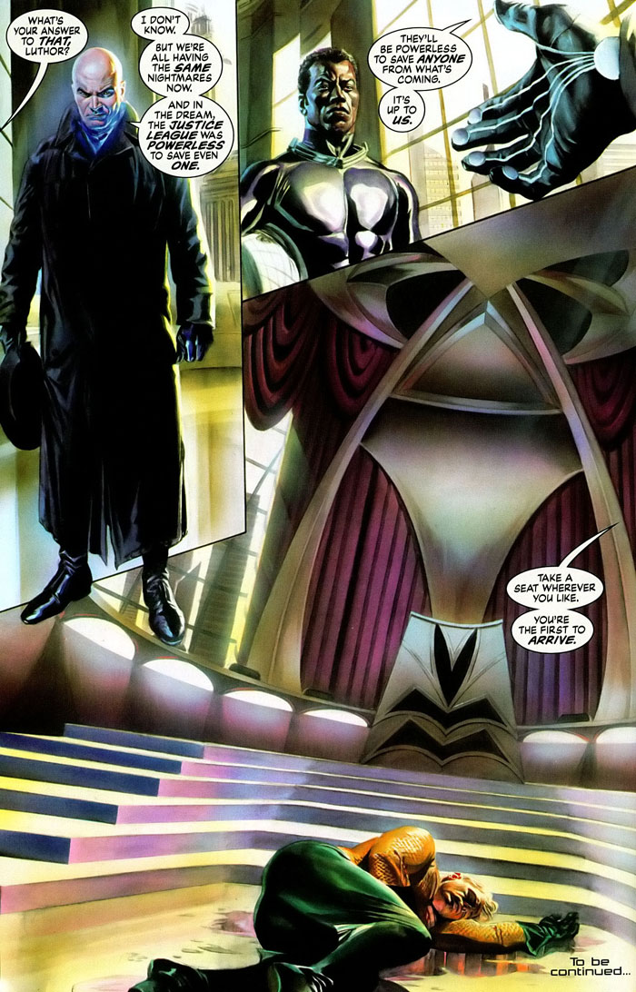 Justice #1 maxi-series by Jim Krueger, Alex Ross, and Doug Braithwaite