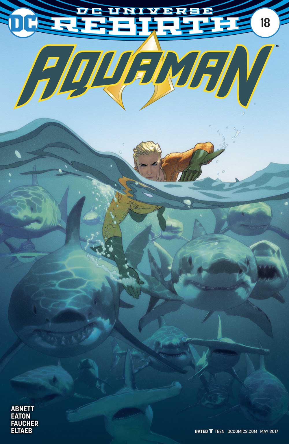 Aquaman #18 Variant cover by Joshua Middleton
