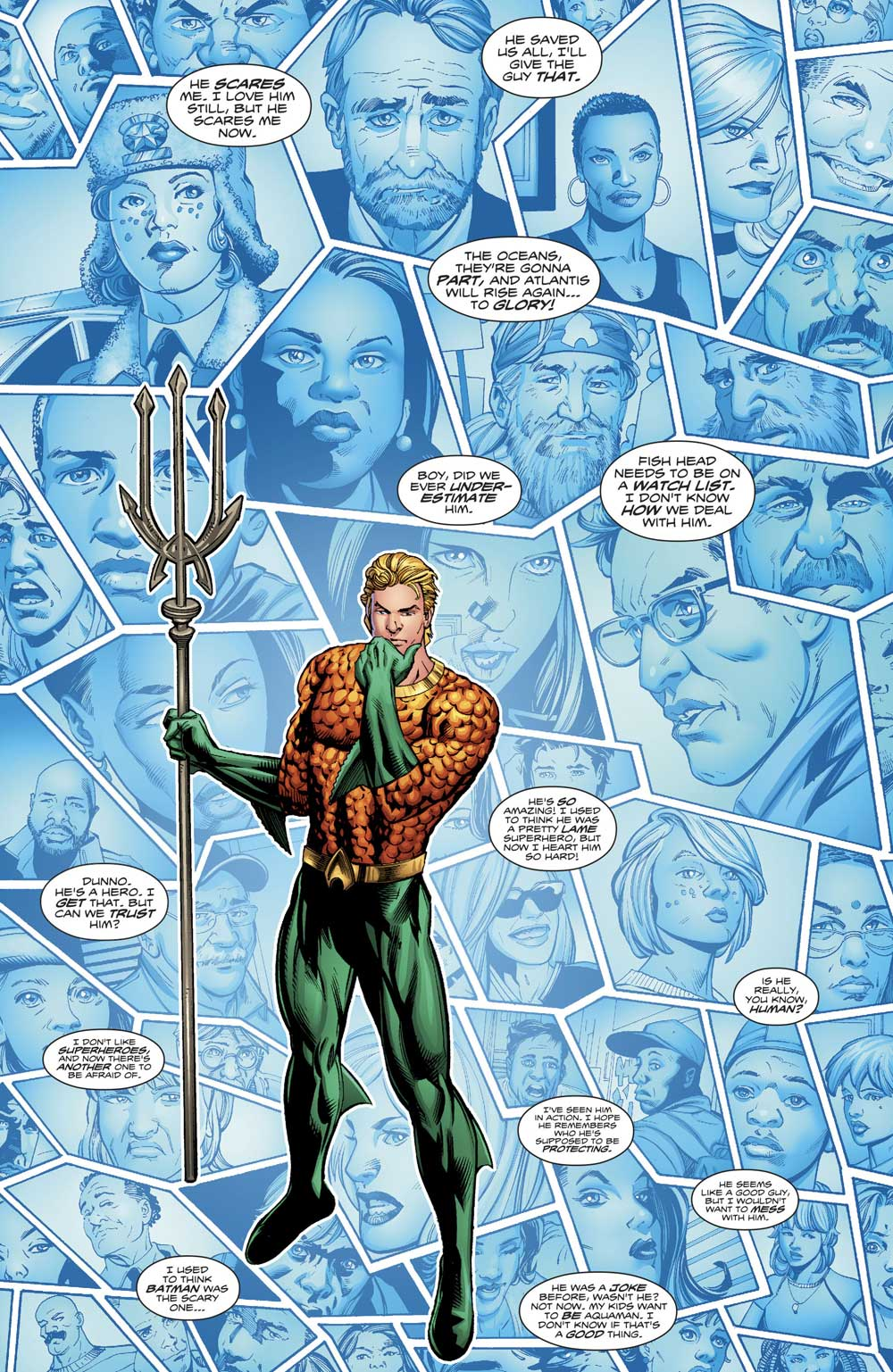 Aquaman #18 by Dan Abnett, Scot Eaton and Wayne Faucher