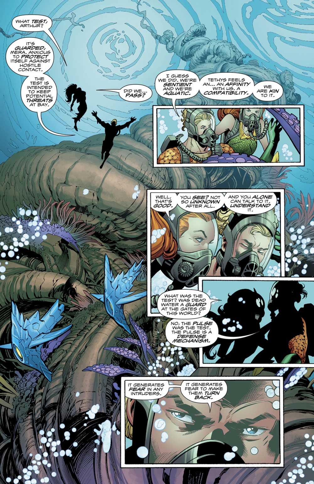 Aquaman #21 by Dan Abnett, Scot Eaton and Wayne Faucher