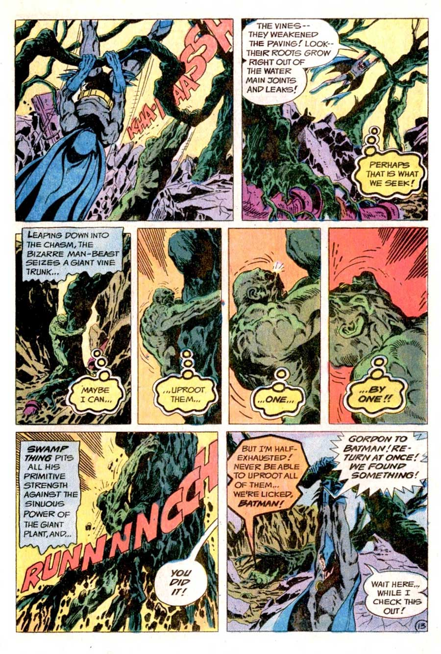 The Brave and the Bold #122 by Bob Haney and Jim Aparo with Batman and Swamp Thing