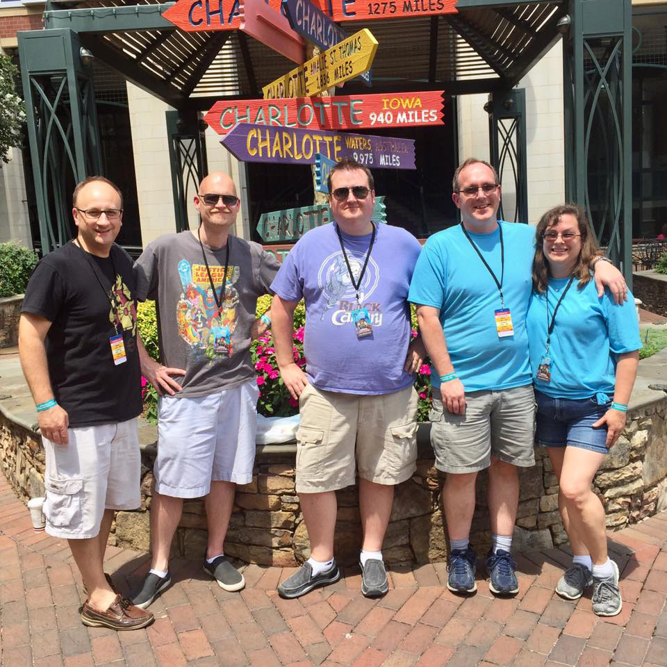 The Fire and Water Podcast Network at HeroesCon 2017: Shag, Rob, Ryan, Chris and Cindy