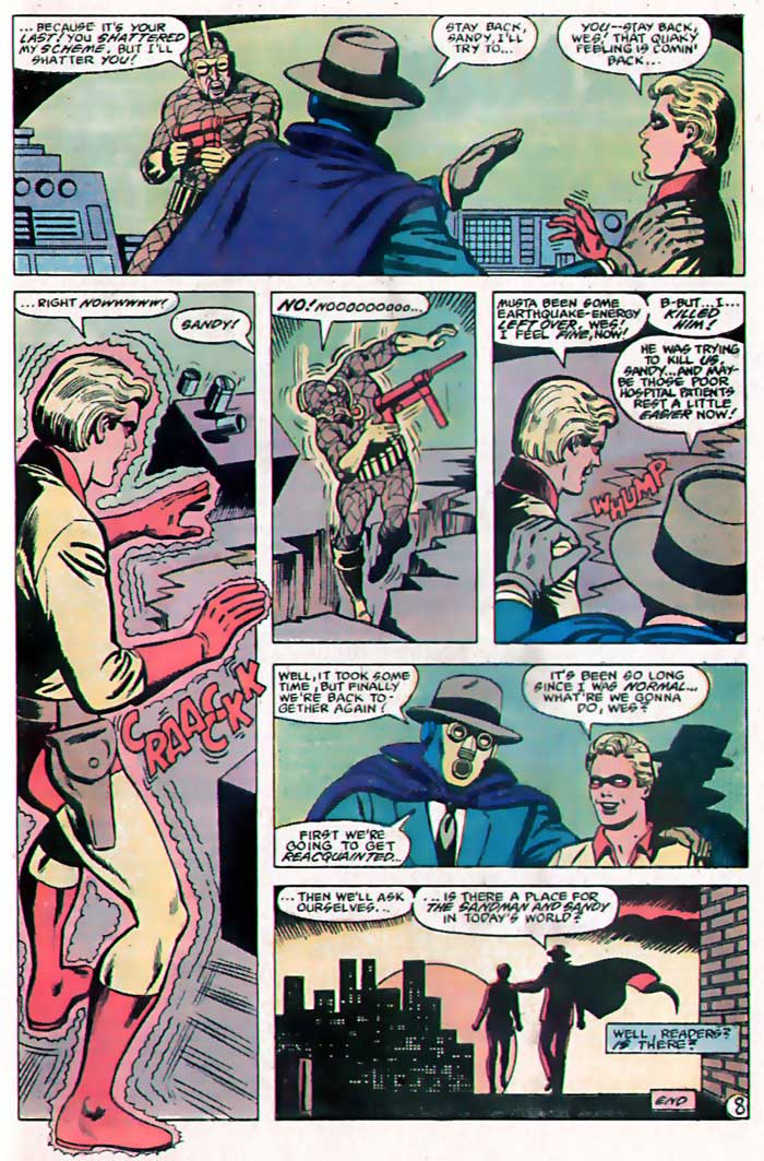 Whatever Happened To... Sandy the Golden Boy! From DC Comics Presents #47, by Mike W. Barr, Jose Delbo and John Calnan.