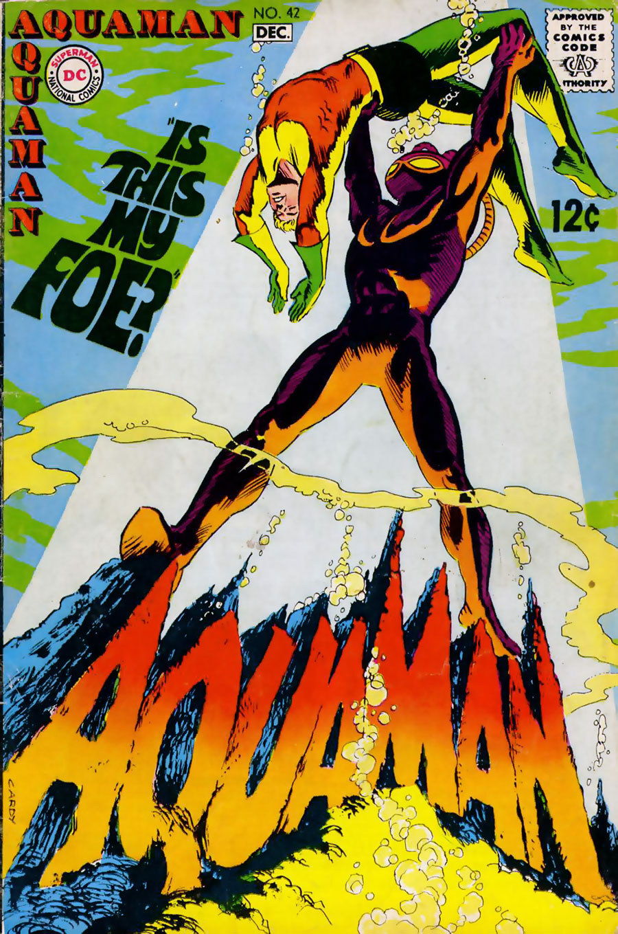 Aquaman #42 cover by Nick Cardy