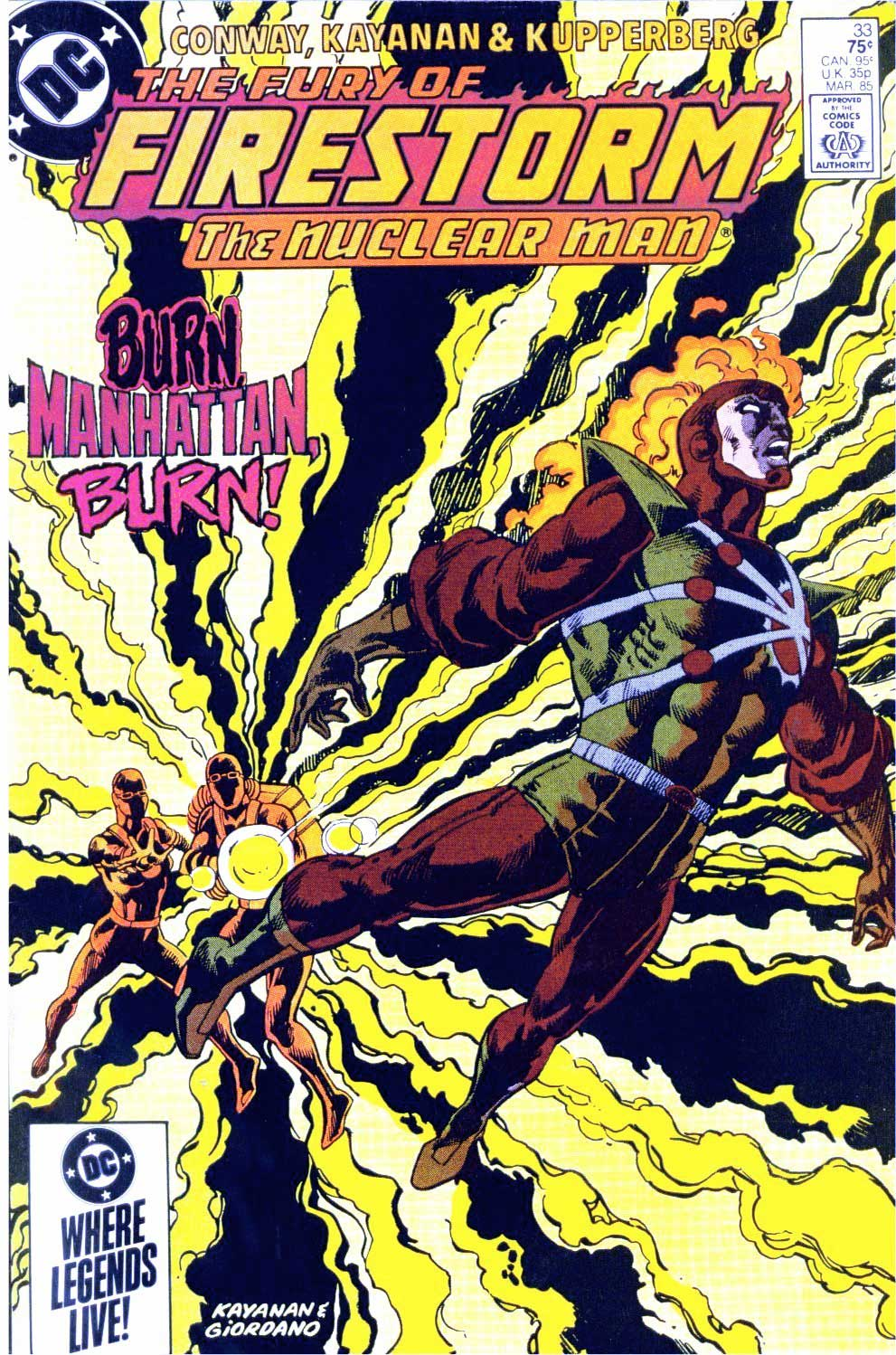 Fury of Firestorm #33 cover by Rafael Kayanan and Dick Giordano!