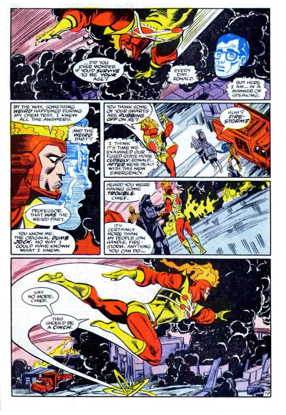 Fury of Firestorm #34 by Gerry Conway, Rafael Kayanan, and Alan Kupperberg