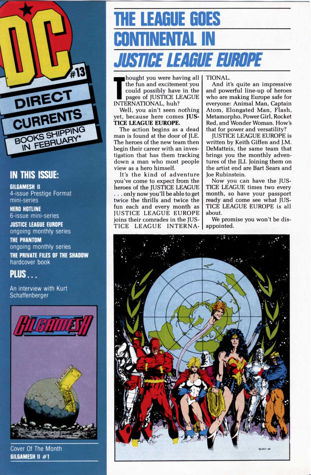 Justice League Europe featured in DC Currents