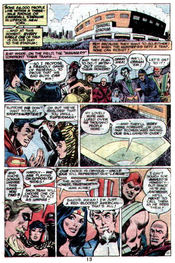 """""""The Great Super Star Game"""" (Baseball) by Bob Rozakis, Dick Dillin, and Frank McLaughlin"""