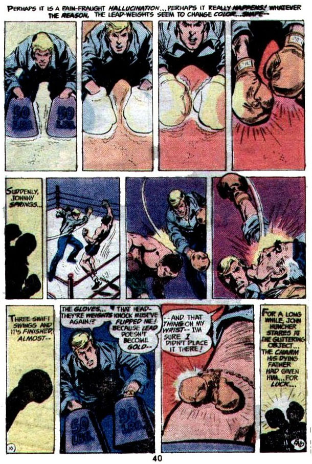"""""""Man with the Golden Gloves"""" (Boxing) by Denny O'Neil, Irv Novick, and Dick Giordano"""