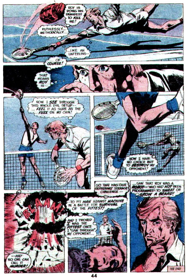 """""""Volley of Death"""" (Tennis) by Frank Robbins and Dick Giordano"""
