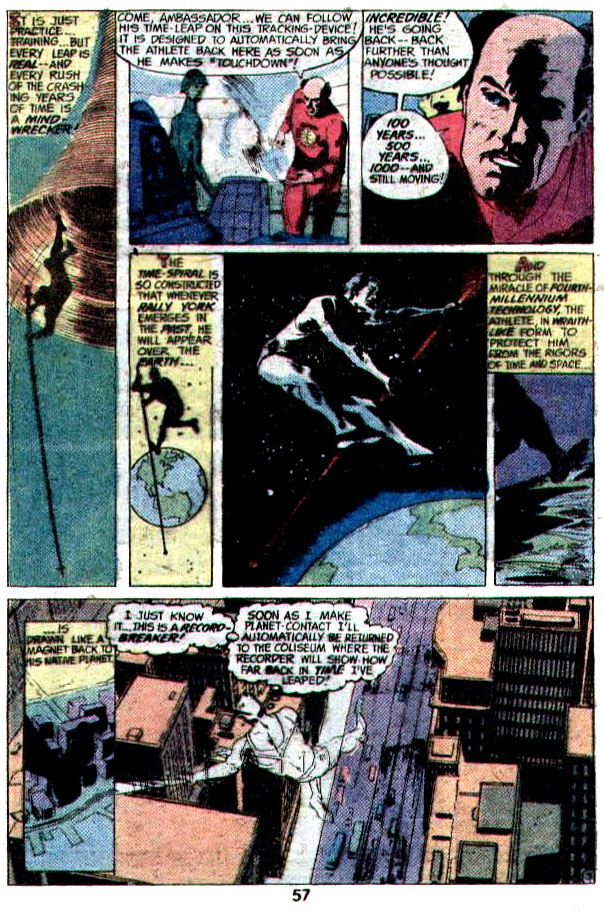 """""""The Man Who Leaped Over The Earth"""" (Interplanetary Olympics) by Elliot S Maggin, Dick Giordano"""