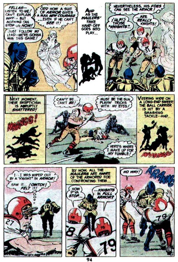 """""""Gridiron Knightmare"""" (Football) by Frank Robbins, Curt Swan, and Dick Giordano"""