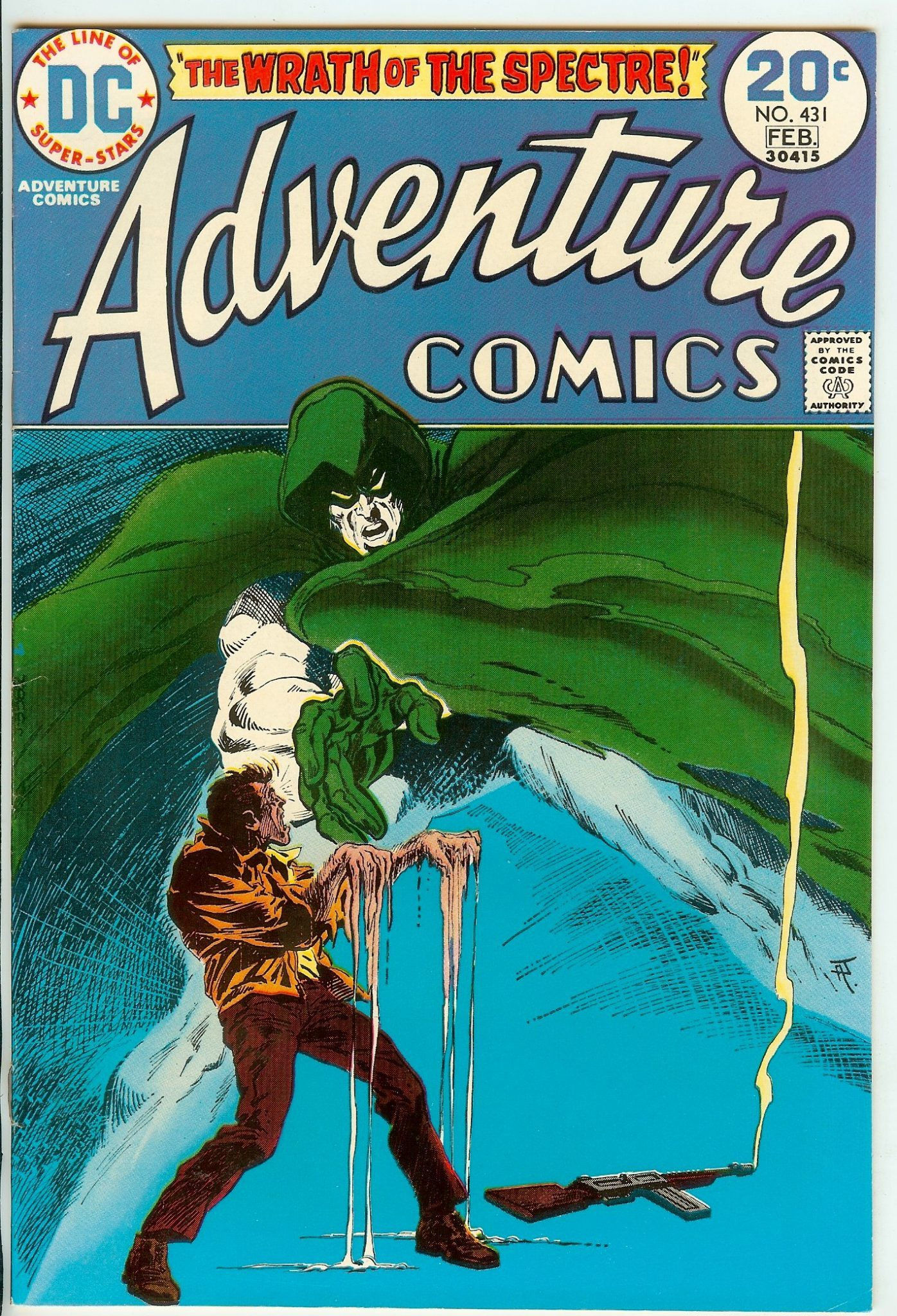 Adventure Comics #431 cover by Jim Aparo