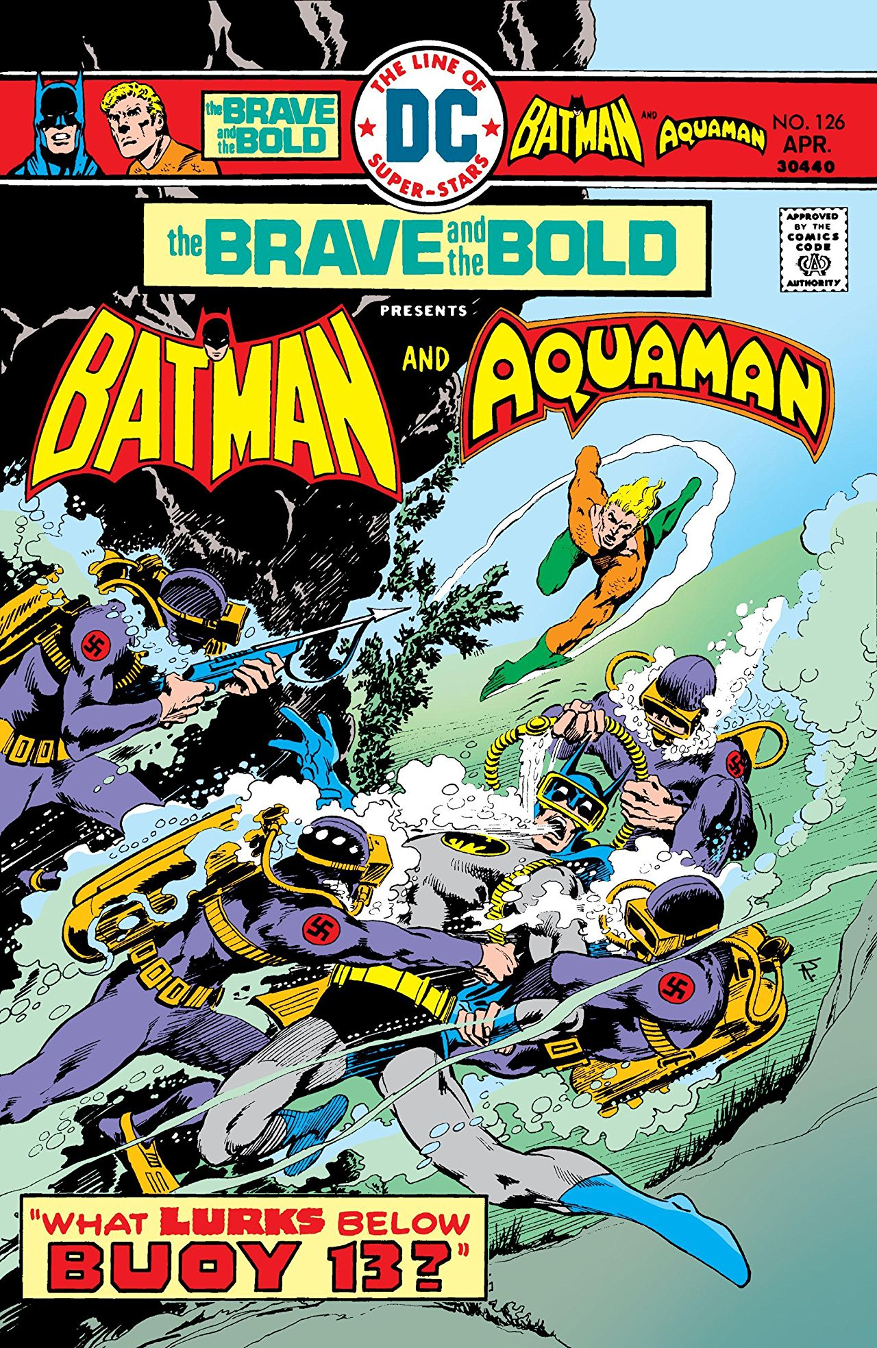 Brave & the Bold #126 cover by Jim Aparo