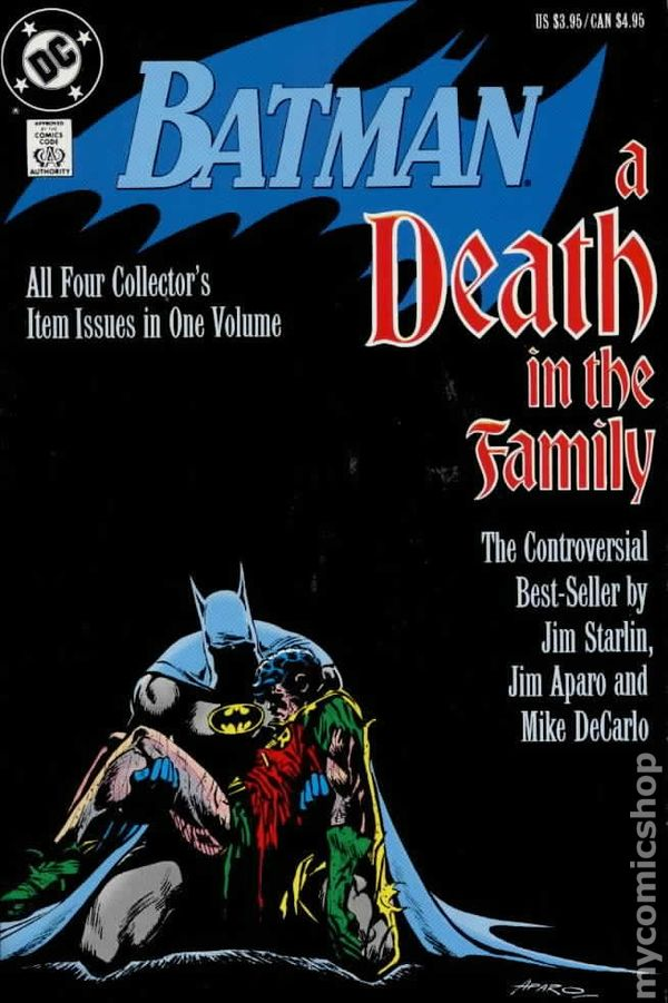 Batman A Death in the Family Trade paperback cover by Jim Aparo