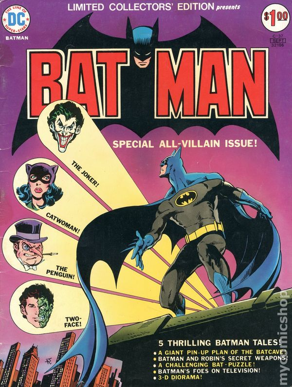 Limited Collectors' Edition C-37 presents Batman cover by Jim Aparo