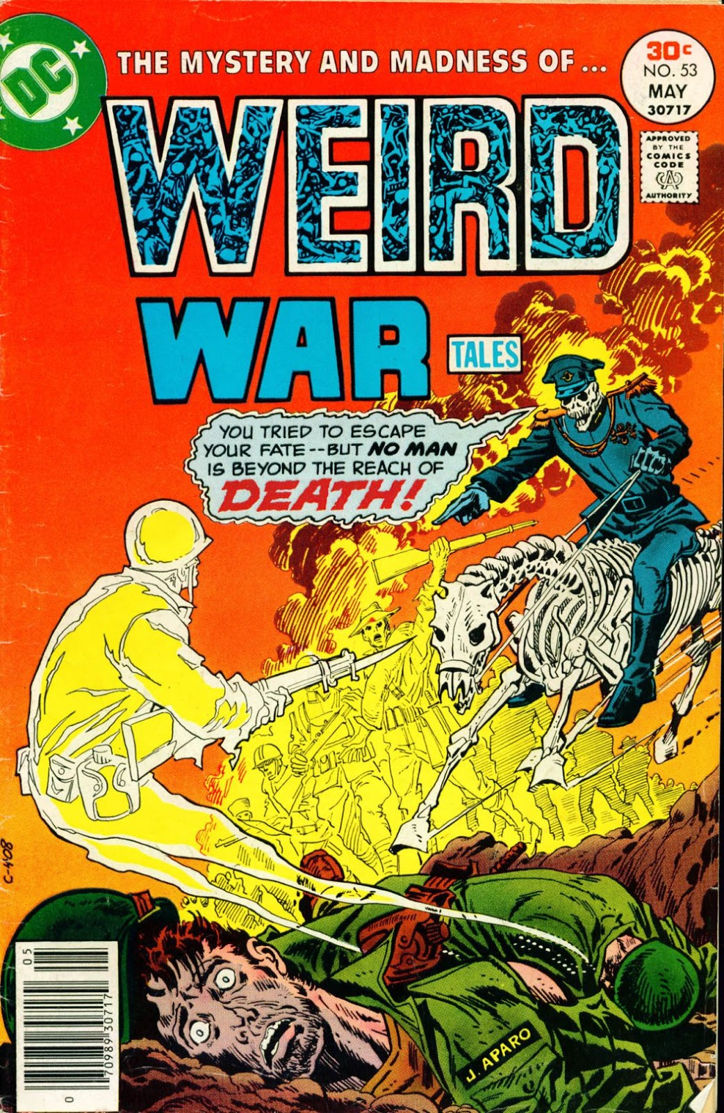 Weird War Tales #53 cover by Jim Aparo