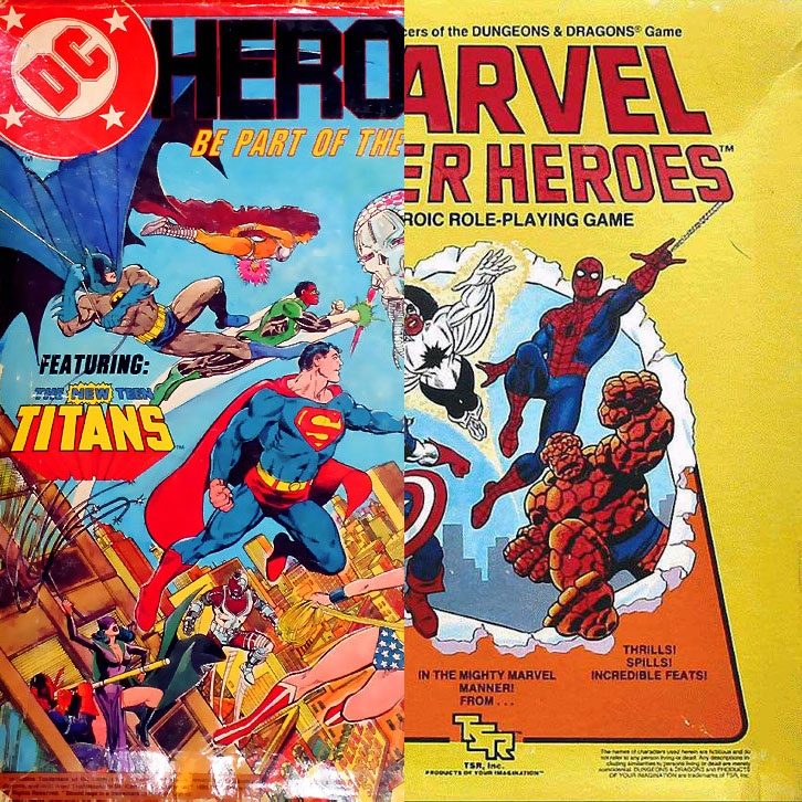 DC Heroes RPG vs Marvel Super-Heroes RPG