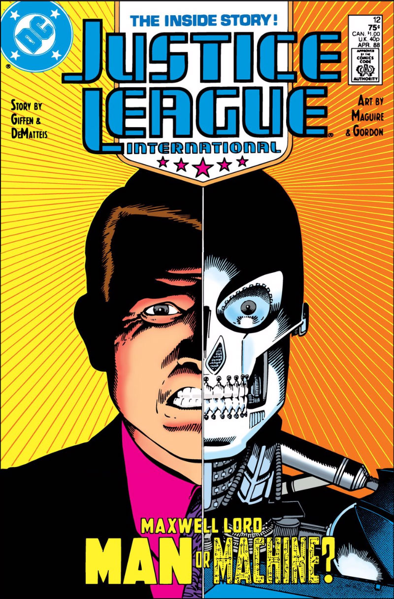 Justice League International #12 cover by Kevin Maguire and Al Gordon