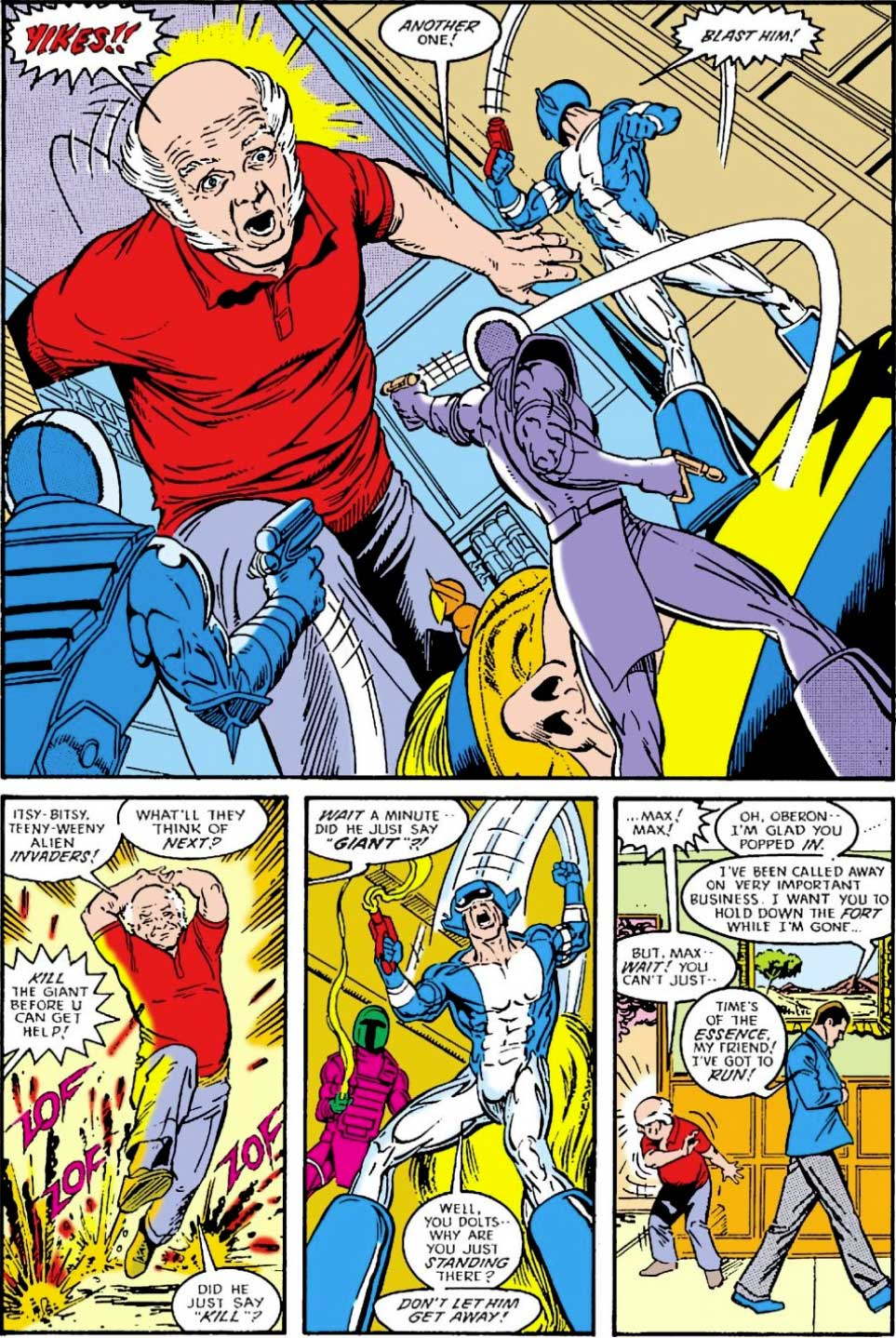 Justice League International #22 by Keith Giffen, JM DeMatteis, Kevin Maguire and Joe Rubinstein