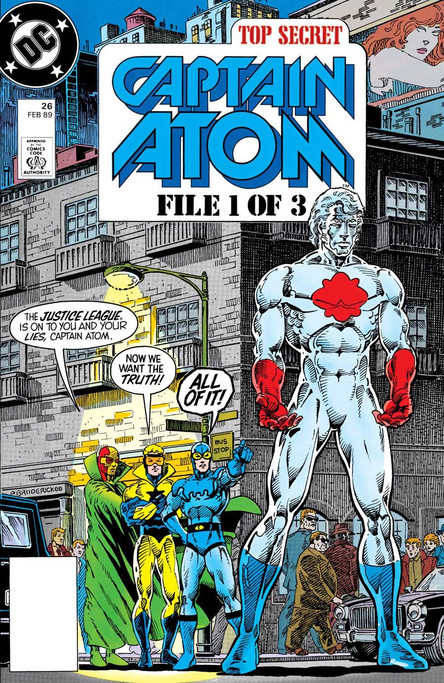 Captain Atom #26 cover by Pat Broderick