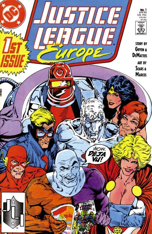 Justice League Europe #1 cover by Bart Sears