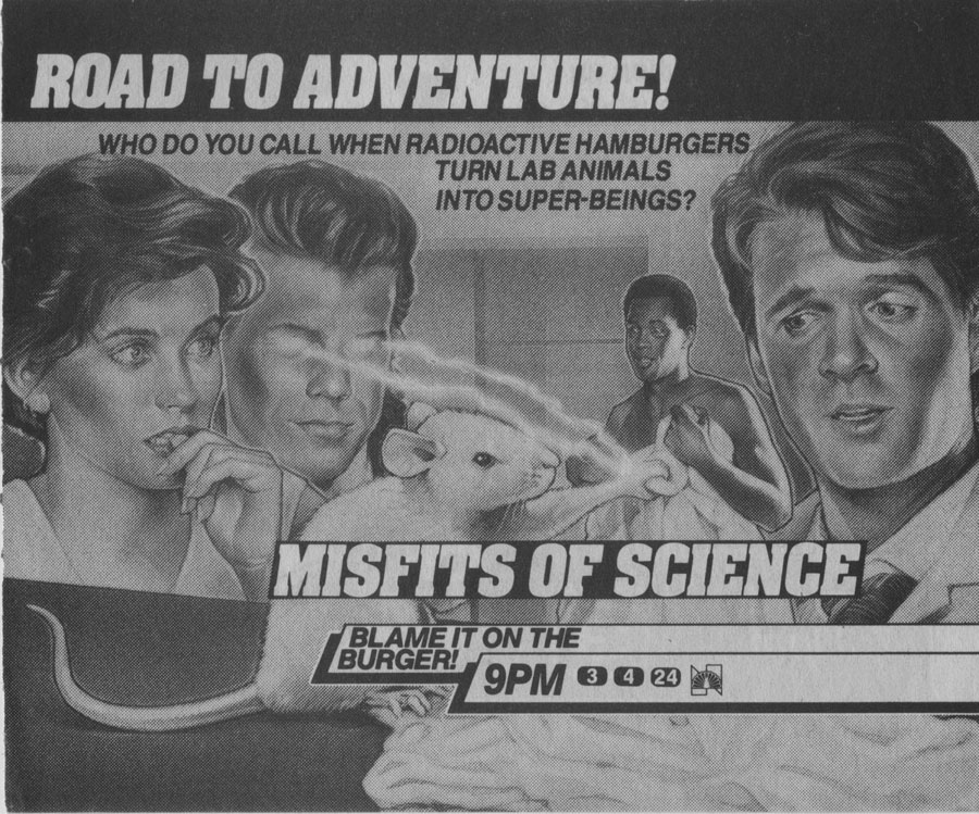 Misfits of Science TV Guide Ad