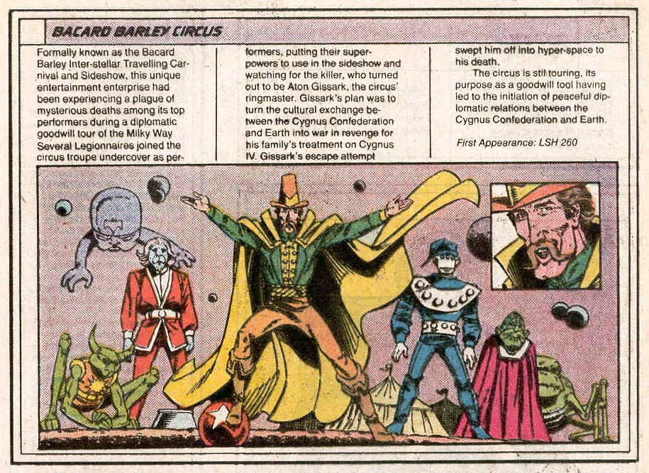 Bacard Barley Circus by Joe Staton and Karl Kesel - Who's Who in the Legion of Super-Heroes #1