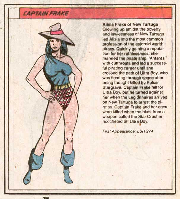 Captain Frake by Dan Jurgens and Robert Campanella - Who's Who in the Legion of Super-Heroes #1