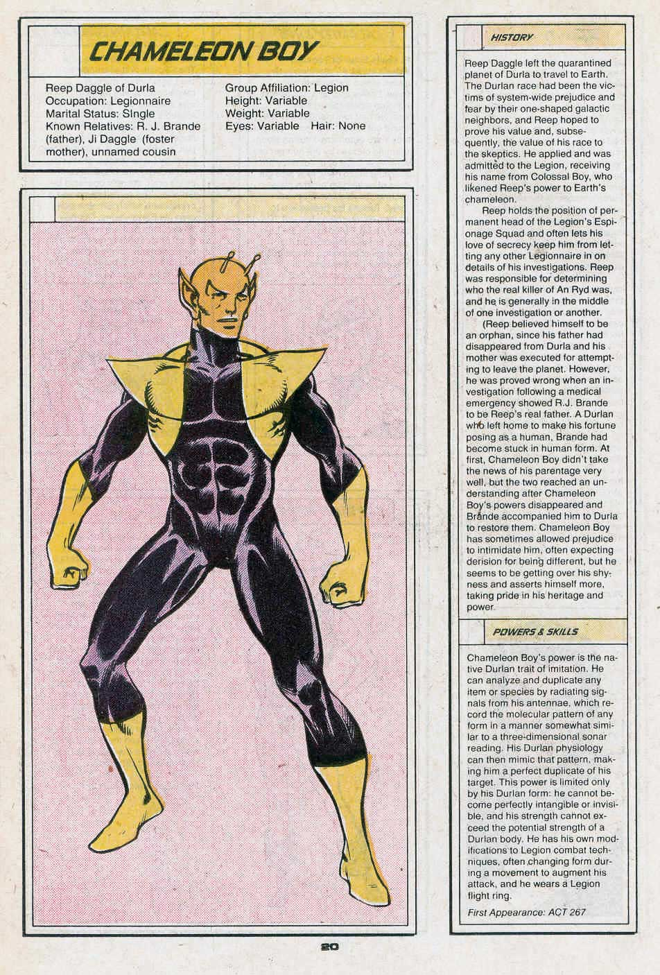 Chameleon Boy by Dave Cockrum - Who's Who in the Legion of Super-Heroes #1