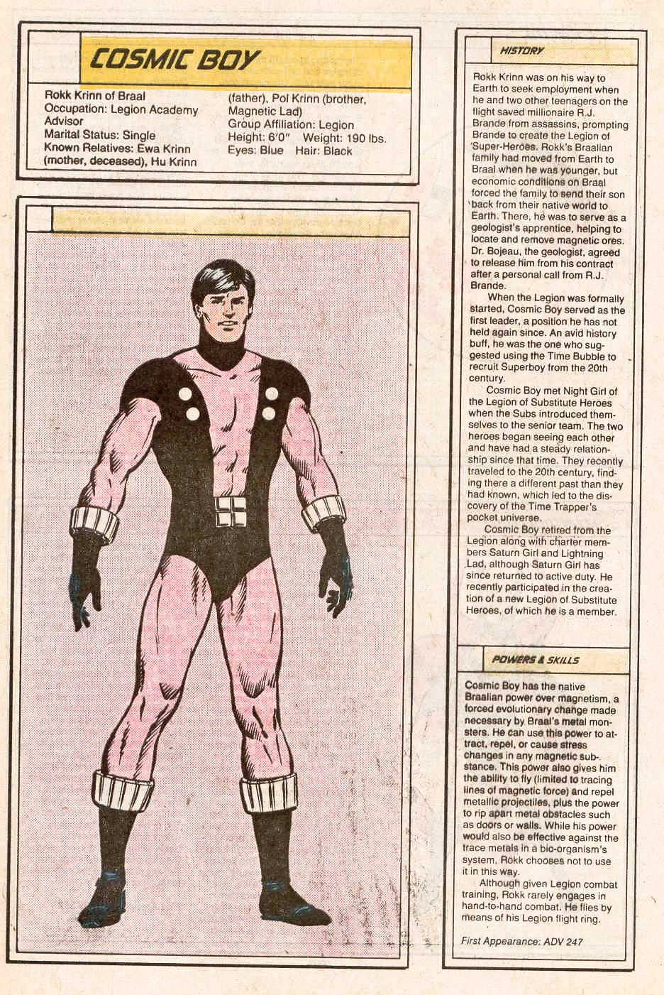 Cosmic Boy by Curt Swan and Grant Miehm - Who's Who in the Legion of Super-Heroes #1