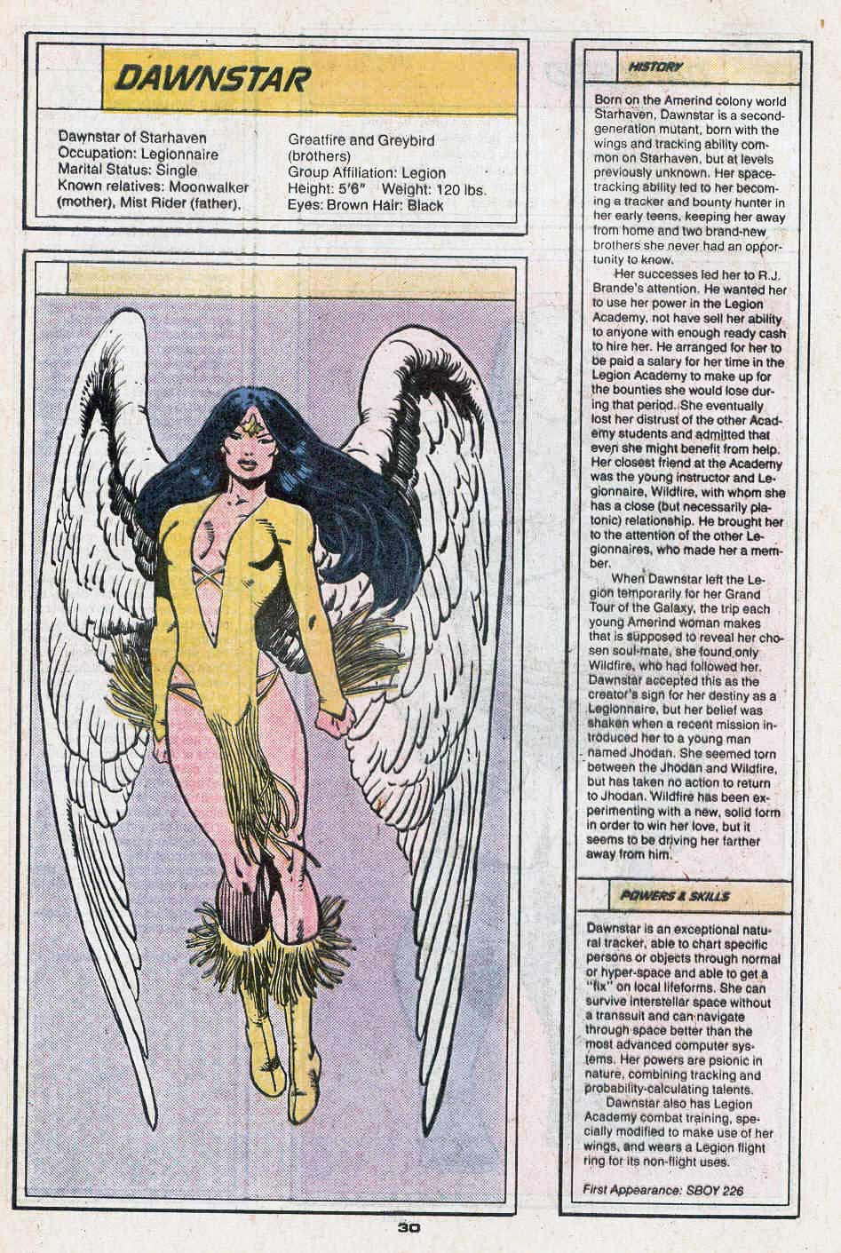 Dawnstar by Greg LaRocque and George Perez - Who's Who in the Legion of Super-Heroes #1