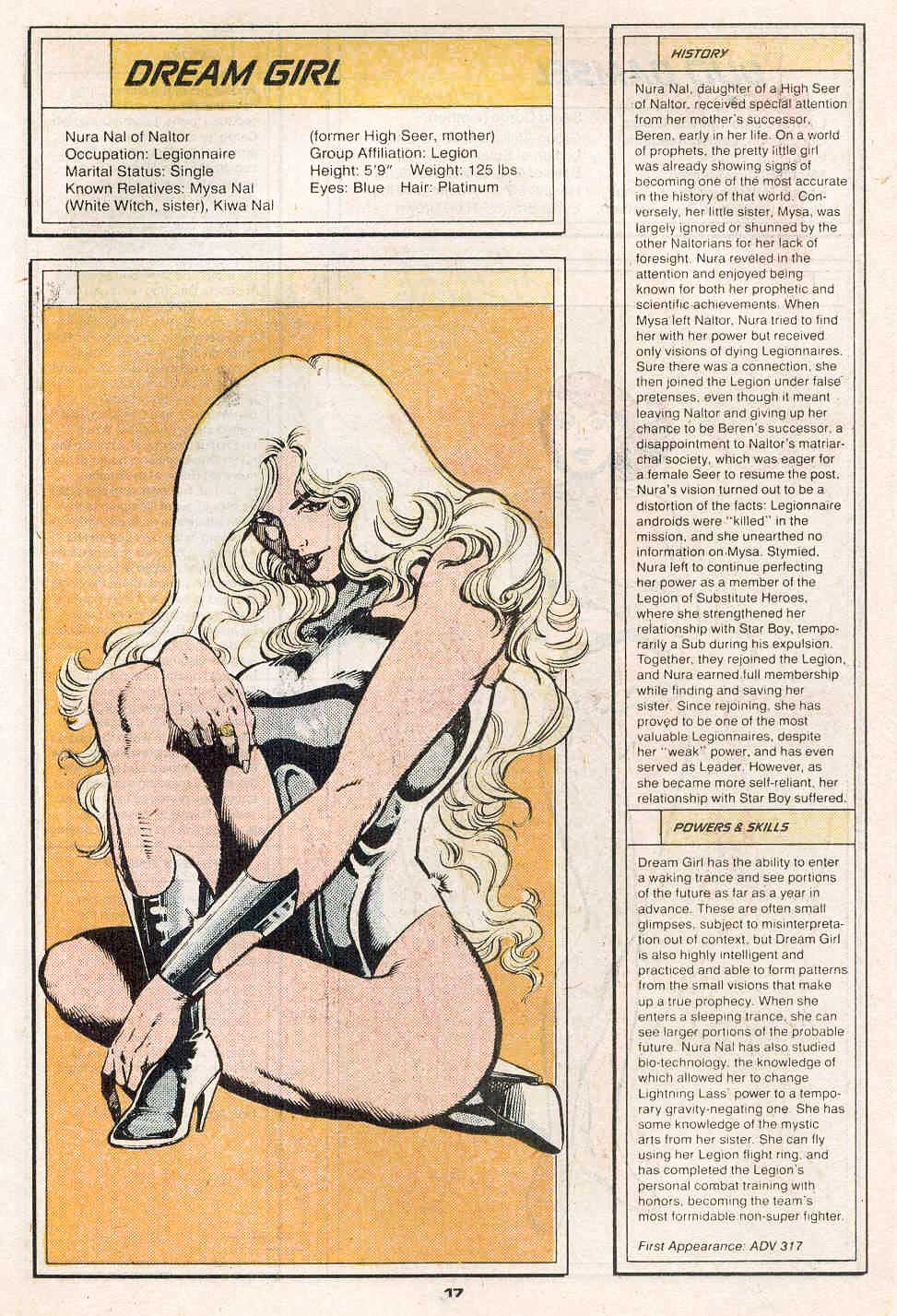 Dream Girl by Greg LaRocque and George Perez - Who's Who in the Legion of Super-Heroes #2
