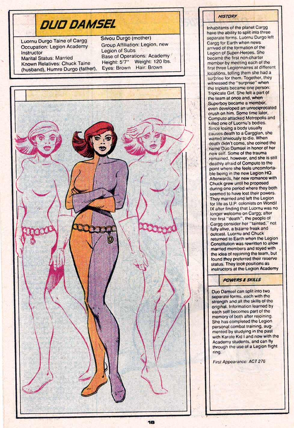 Duo Damsel by Dave Cockrum - Who's Who in the Legion of Super-Heroes #2