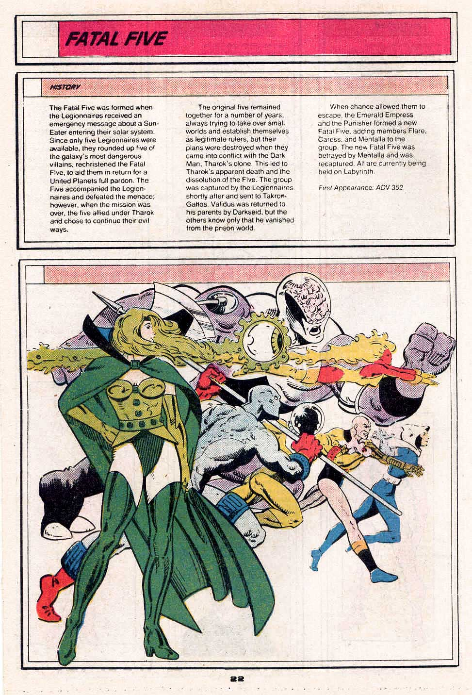 Fatal Five by Dan Jurgens and Robert Campanella - Who's Who in the Legion of Super-Heroes #2