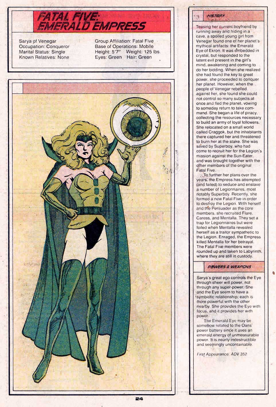 Emerald Empress by Colleen Doran - Who's Who in the Legion of Super-Heroes #2