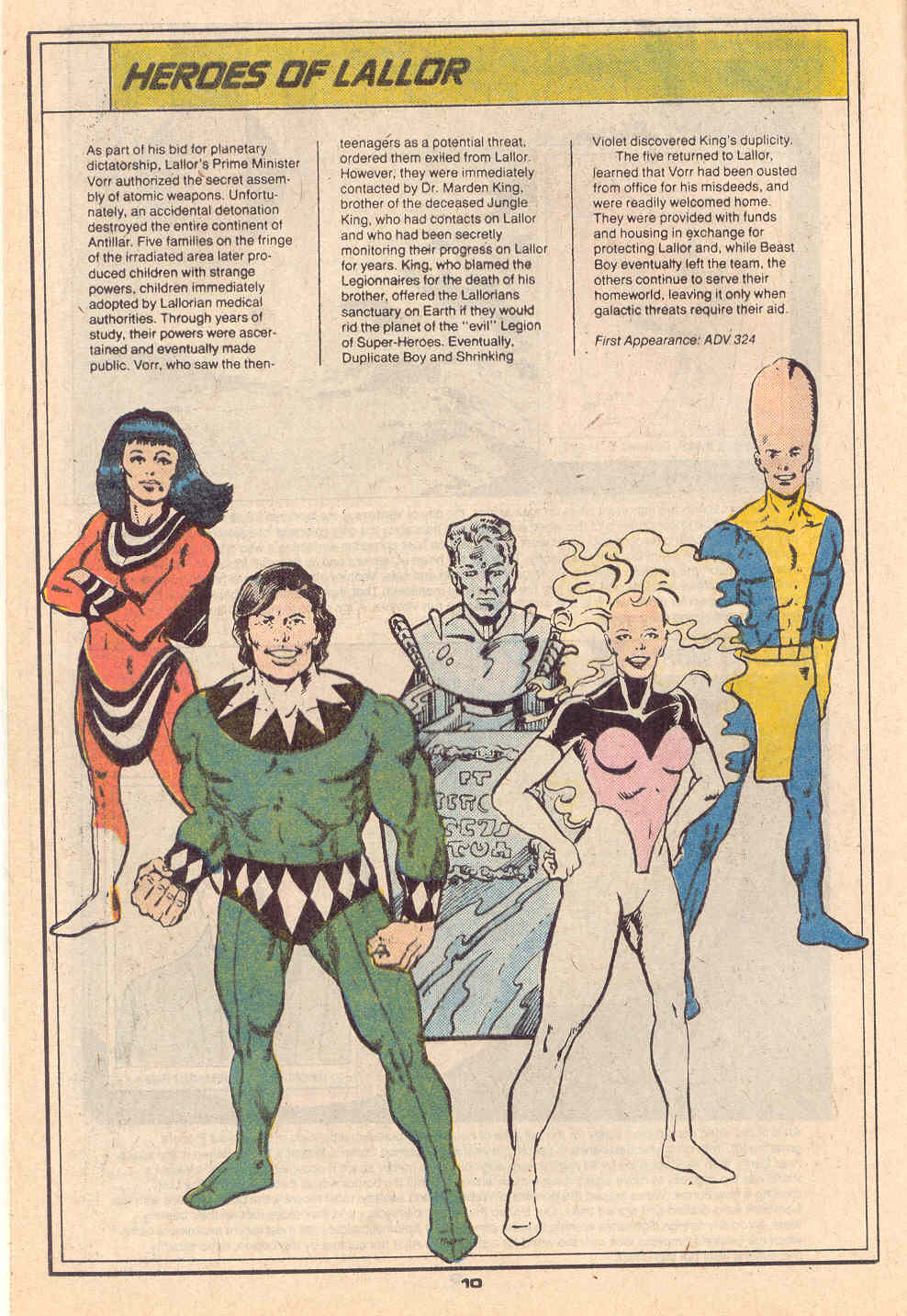 Heroes of Lallor by Jim Valentino and George Perez - Who's Who in the Legion of Super-Heroes #3