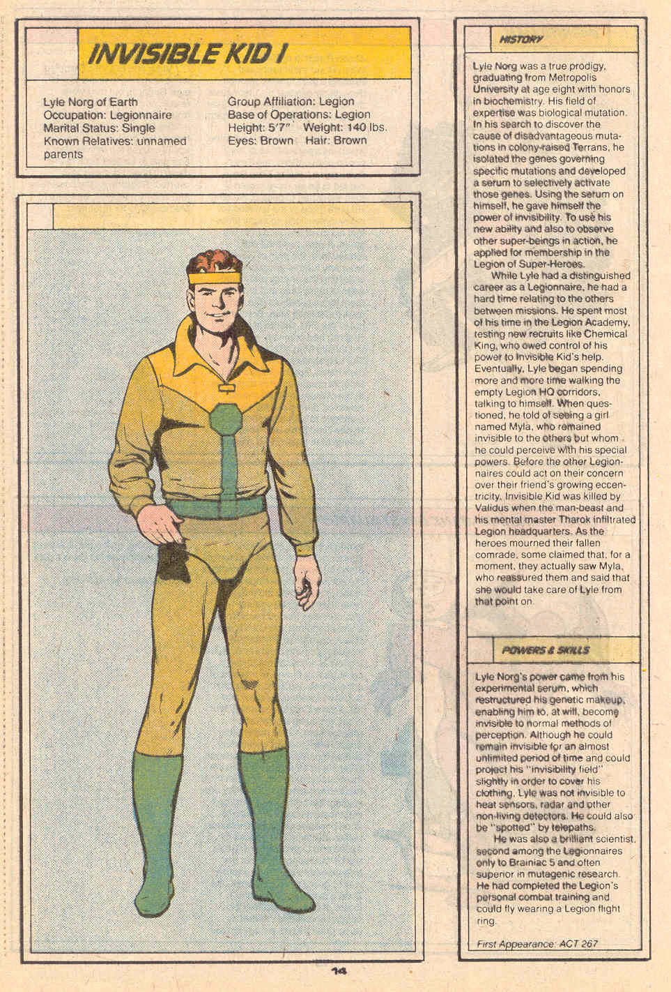 Invisible Kid I by Curt Swan and Ty Templeton - Who's Who in the Legion of Super-Heroes #3
