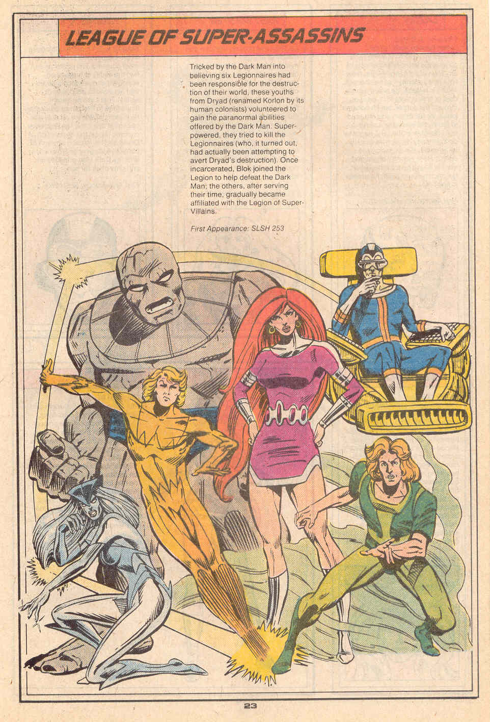 League of Super-Assassins by Grant Miehm - Who's Who in the Legion of Super-Heroes #3