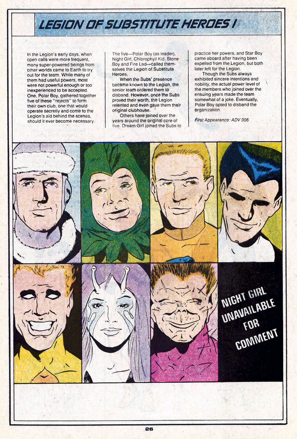 Legion of Substitute Heroes I by Keith Giffen and Richard Bruning - Who's Who in the Legion of Super-Heroes #3