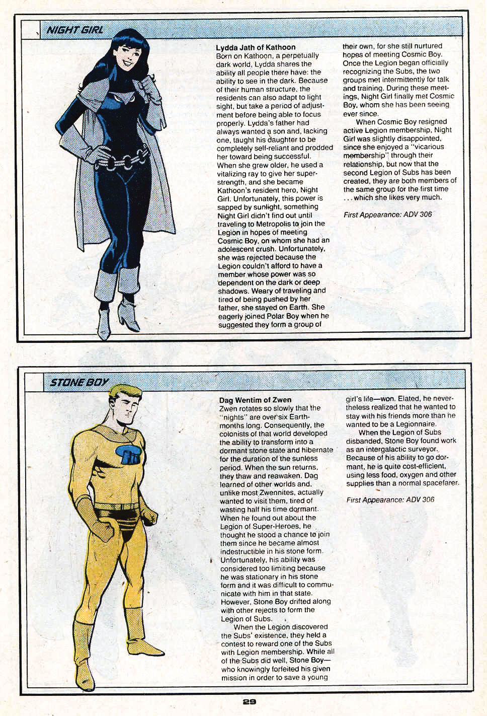 Night Girl and Stone Boy by Ty Templeton - Who's Who in the Legion of Super-Heroes #3