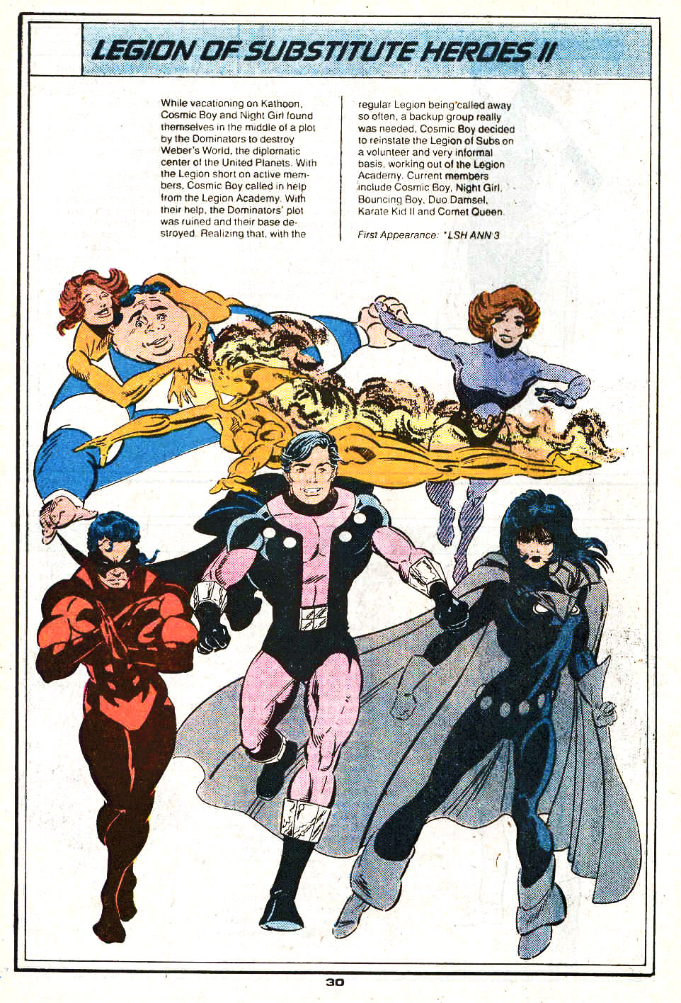 Legion of Substitute Heroes II by Greg LaRocque and Robert Campanella - Who's Who in the Legion of Super-Heroes #3